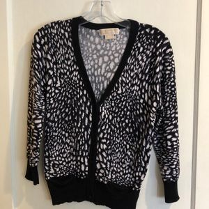 Michael Kors 3/4 Sleeves Button Front Cardigan